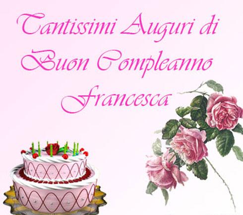 Souvent Auguri Francesca - cirellina OD74