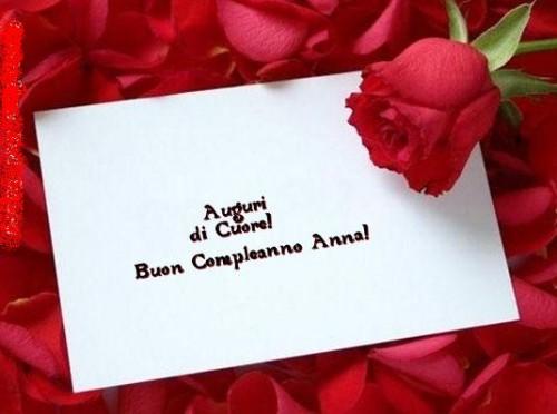 Buon Compleanno Anna Auguri